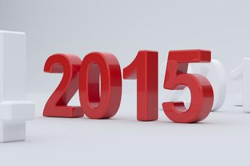 2015 year on white background