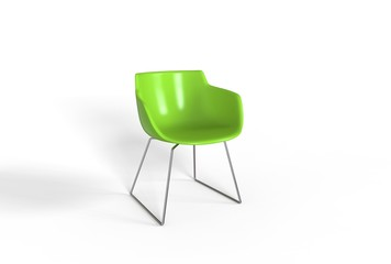 Simple green plastic chair