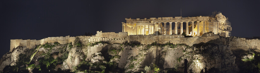 Acropolis of Athens.Night shot.Panorama.