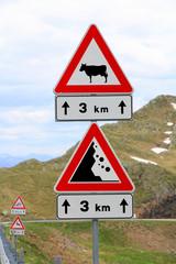 Warnung im Gebirge