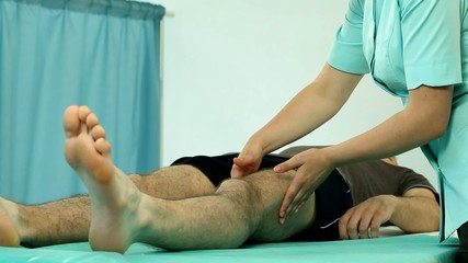 Physiotherapy session in professional cabinet video