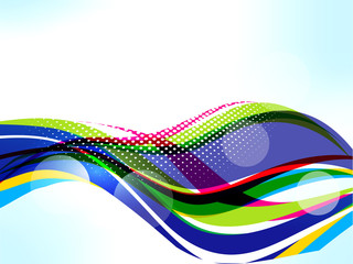 Vector Colorfull Wave Background
