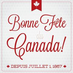 Happy Canada Day retro card in vector format.