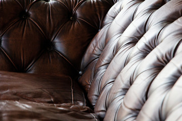 Close up of luxury leather