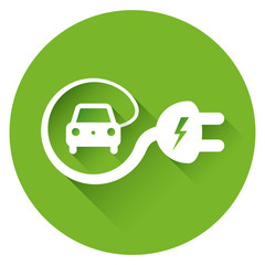 Electric car icon