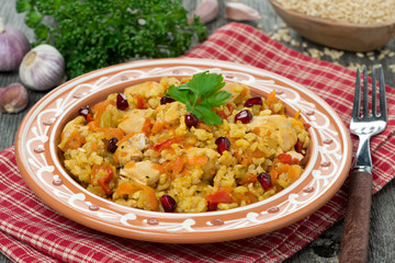 pilaf with chicken and vegetables