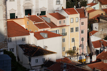 Alfama District Houses in Lisbon