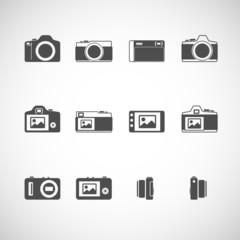 camera icon set, vector eps10