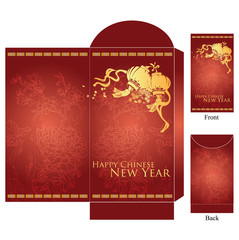 various size of chinese lunar new year red packet