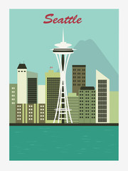 Seattle city. Vector