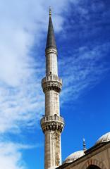 minaret Blue mosque in Istanbul