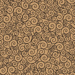 seamless pattern curl.