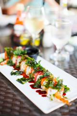 Japanese cuisine sushi rolls