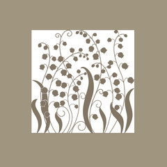 Cute card with flowers . lily of the valley