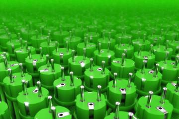 Stromstecker Hintergrund Grün