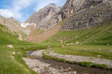 Glacial valley in Pyrenees, Spain