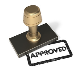 "Rubber stamp ""Approved"""