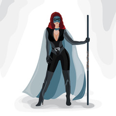 Superhero girl vector