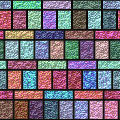 Colorful glazed tiles seamless generated hires texture
