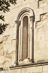 San Clemente abbey, Abruzzo region, Italy, Lancet window