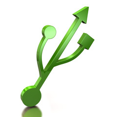Green usb icon