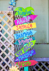 Colorful Beach Sign