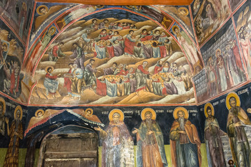 Wall painting inside Orthodox church