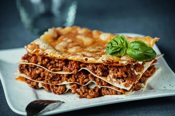Italian beef lasagne