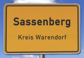 Ortsschild Sassenberg Kreis Warendorf