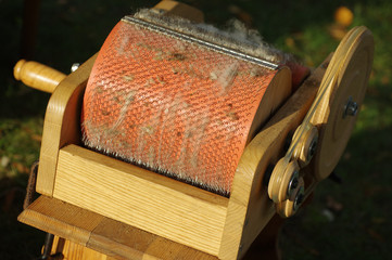 Sheep wool brush to comb