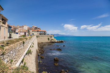 Antibes, France. Promenade and ancient fortification