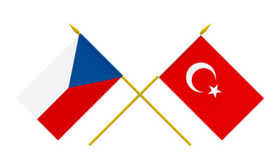 Flags, Czech Republic and Turkey
