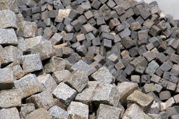 Pflastersteine Granit und Beton