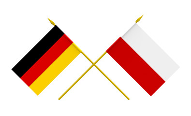 Flags, Germany and Poland