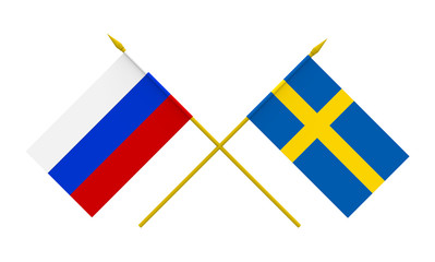 Flags, Sweden and Russia