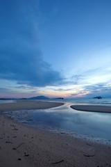 seascape of beautiful sunrise sea and clouds