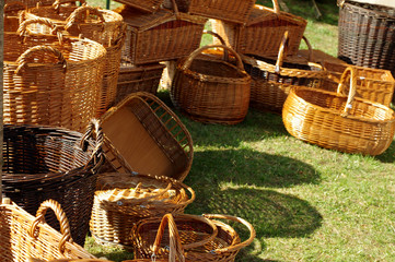 wicker baskets handmade