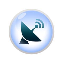 Icone bulle d'eau : satellite
