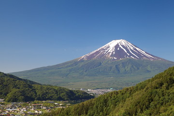 Mt Fuji in summer season