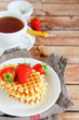waffle breakfast and tea