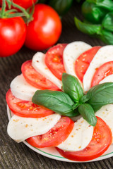 Tomatoes with mozzarella