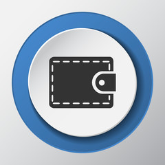 money paper icon with shadow