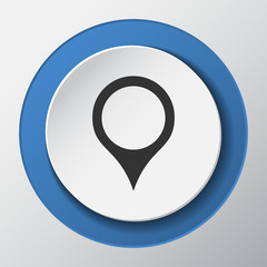 map pointer paper icon with shadow