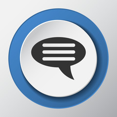 chat paper icon with shadow