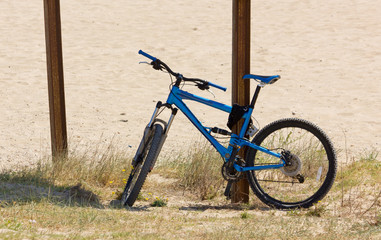 Mountain Bike on a Sandy Beach