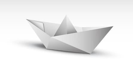 barca origami, carta