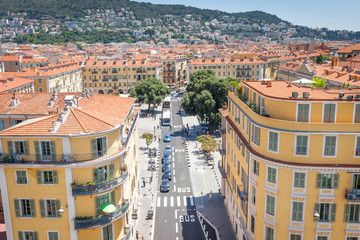 The view from the roof of the Mamac museum in Nice