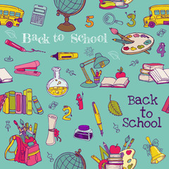 Back to School - Seamless Background - for design, texture
