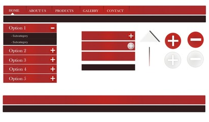 Web template theme