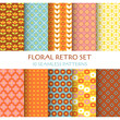 10 Seamless Patterns - Floral Retro Set